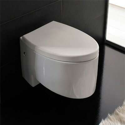 Zefiro Wall Mounted Elongated 1 Piece Toilet Product Photo