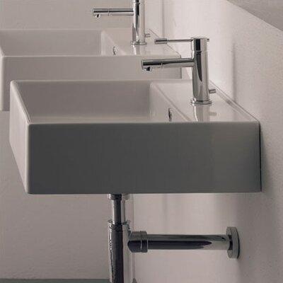 Teorema Wall Mounted Bathroom Sink by Scarabeo by Nameeks