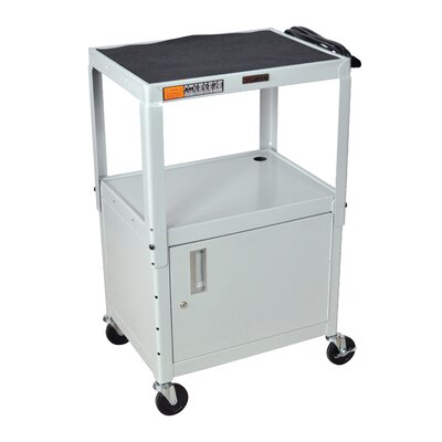 H. Wilson Company AV Cart with Cabinet