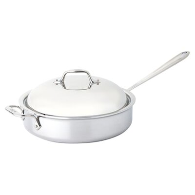 All-Clad Stainless Steel 4 Qt. Saute Pan with Domed Lid