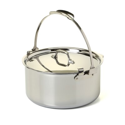 Stainless Steel 8 Qt. Pouring Stock Pot with Lid by All-Clad