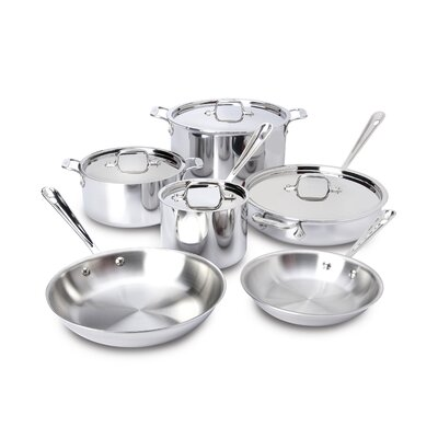 All-Clad Stainless Steel 10 Piece Cookware Set