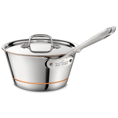 Copper Core 2.5 Qt. Saucepan with Lid by All-Clad