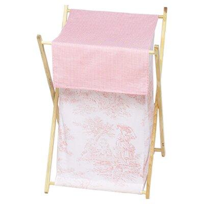 Pink Toile Laundry Hamper by Sweet Jojo Designs