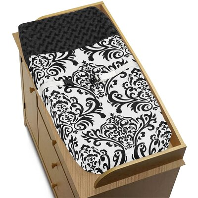 Sweet Jojo Designs Isabella Black and White Collection Changing Pad Cover