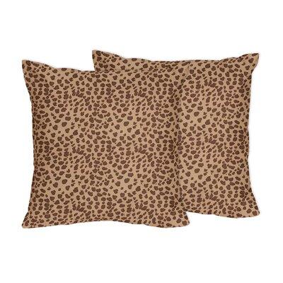 Cheetah Girl Microsuede Throw Pillow by Sweet Jojo Designs