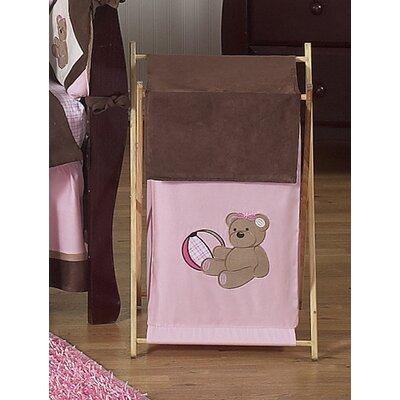 Teddy Bear Pink Laundry Hamper by Sweet Jojo Designs