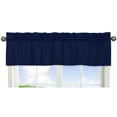 Solid Navy Curtain Valance Product Photo