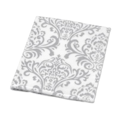 Elizabeth Damask Plush Baby Blanket by Sweet Jojo Designs