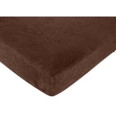 Sweet Jojo Designs All Star Brown Fitted Crib Sheet