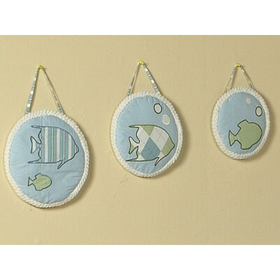 Sweet Jojo Designs 3 Piece Go Fish Hanging Art Set