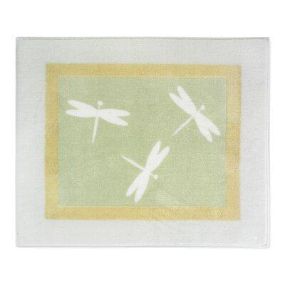 Sweet Jojo Designs Green Dragonfly Dreams Collection Floor Area Rug