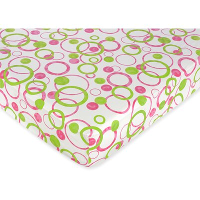 Mod Circles Fitted Crib Sheet by Sweet Jojo Designs