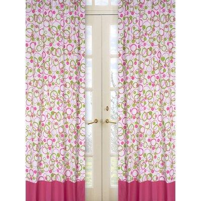 Sweet Jojo Designs Circles Pink Cotton Curtain Panels
