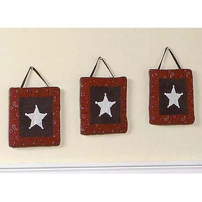 Sweet Jojo Designs 3 Piece Wild West Cowboy Wall Hanging Set