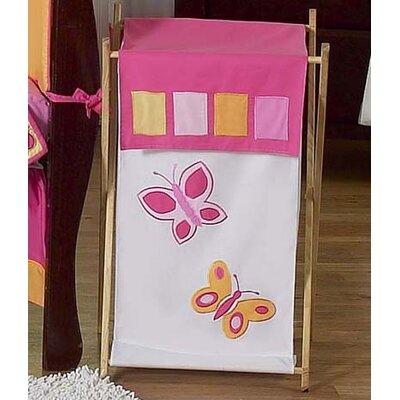Sweet Jojo Designs Butterfly Pink and Orange Laundry Hamper