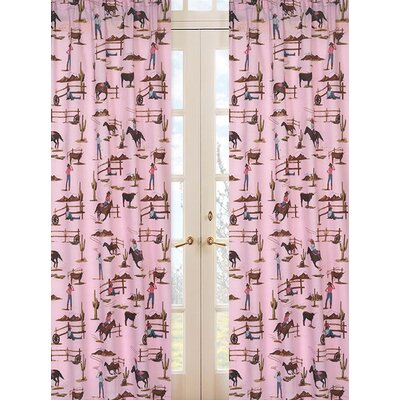 Sweet Jojo Designs Cowgirl Print Cotton Curtain Panels