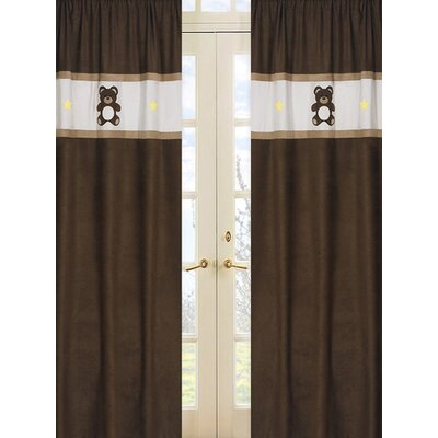 Sweet Jojo Designs Teddy Bear Pink Curtain Panels