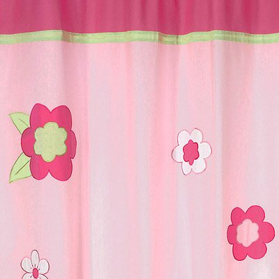 sweet jojo designs flower pink and green cotton shower