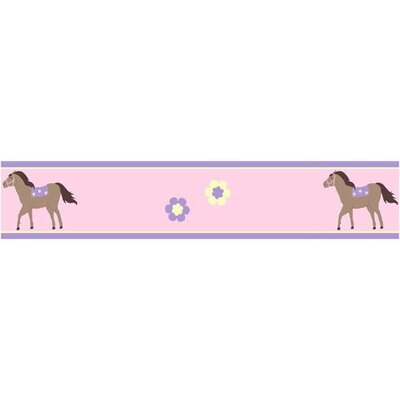 "Sweet Jojo Designs Pony 15' x 6"" Horse Border Wallpaper"