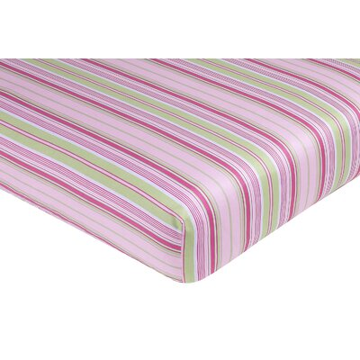 Sweet Jojo Designs Jungle Friends Striped Fitted Crib Sheet