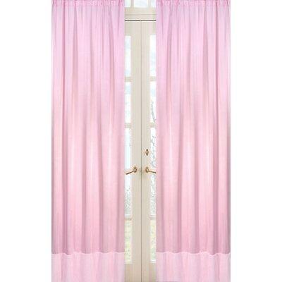 Sweet Jojo Designs Chenille Pink Curtain Panels