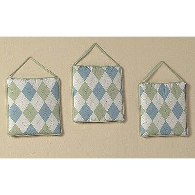 Sweet Jojo Designs 3 Piece Argyle Green Blue Hanging Art Set
