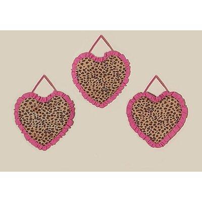 Sweet Jojo Designs 3 Piece Cheetah Pink Wall Hanging Set
