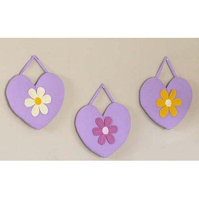 Sweet Jojo Designs 3 Piece Danielle's Daisies Hanging Art Set