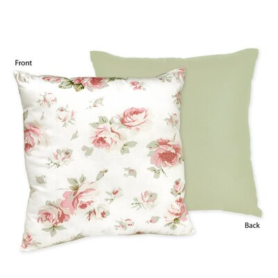 Sweet Jojo Designs Riley's Roses Cotton Throw Pillow