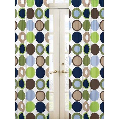 Sweet Jojo Designs Designer Dot Rod Pocket Curtain Panels