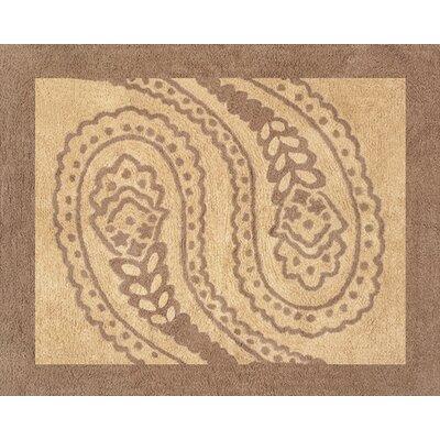 Sweet Jojo Designs Camel Paisley Brown / Beige Area Rug