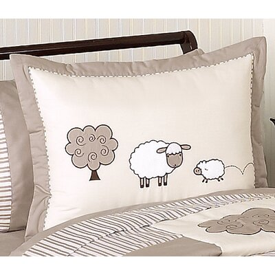Sweet Jojo Designs Lamb Standard Pillow Sham