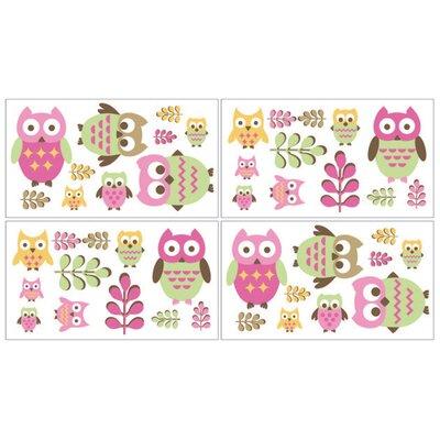 Sweet Jojo Designs Happy Owl Wall Decal