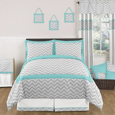 Zig Zag Turquoise and Gray Bedding Collection by Sweet Jojo Designs