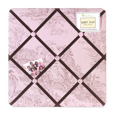Pink and Brown Toile Memo Board by Sweet Jojo Designs