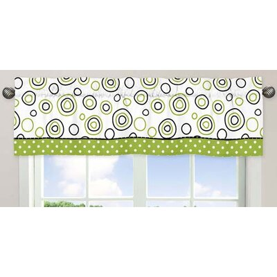 """Lime and Black Spirodot 54"""" Curtain Valance Product Photo"""