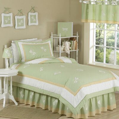 Green Dragonfly Dreams Kid Twin Bedding Collection by Sweet Jojo Designs