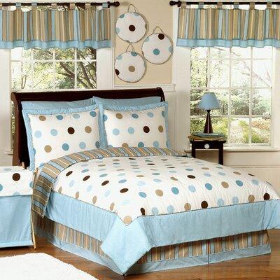 Sweet Jojo Designs Mod Dots Blue Kid Bedding Collection