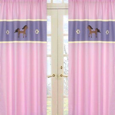 Sweet Jojo Designs Pony Curtain Panels