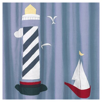 Sweet Jojo Designs Come Sail Away Cotton Shower Curtain