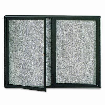 Quartet® Enclosed Wall Mounted Bulletin Board, 3' x 4'