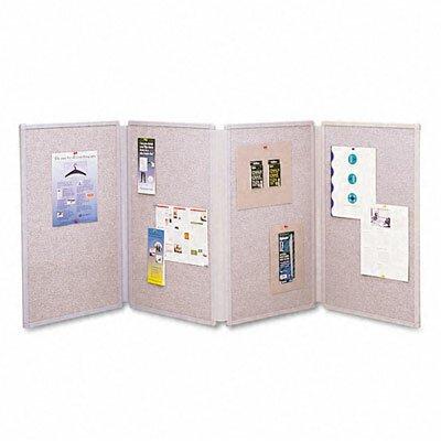 Quartet® Tabletop Display Presentation Enclosed Cabinet Bulletin Board, 3' x 6'