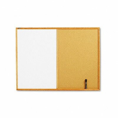 Quartet® Combo Wall Mounted Enclosed Combination Bulletin Board, 3' x 4'