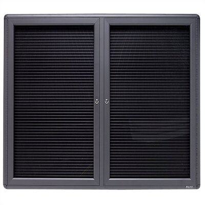 Quartet® 2-Door Enclosed Magnetic Wall Mounted Letter Board, 4' x 5'