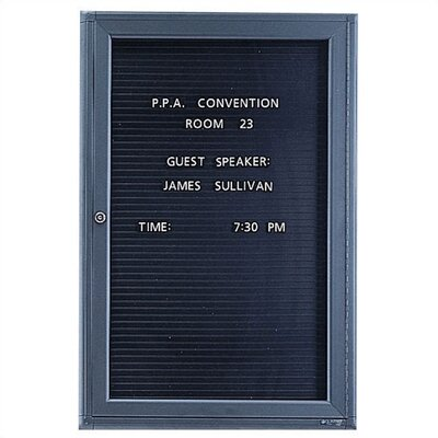 Quartet® Enclosed Magnetic Wall Mounted Letter Board, 3' x 2'
