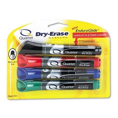 Quartet® Enduraglide Dry Erase Markers, Bullet Tip, Assorted Colors