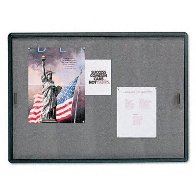 Quartet® Wall Mounted Enclosed Bulletin Board