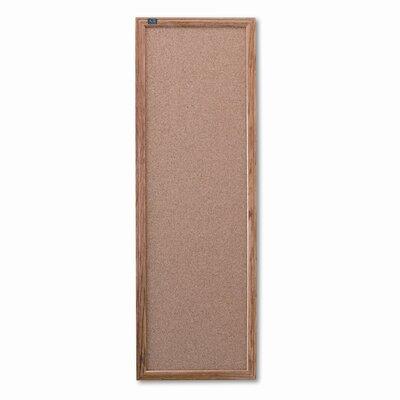 Quartet® Slim Line Wall Mounted Bulletin Board, 3' x 1'
