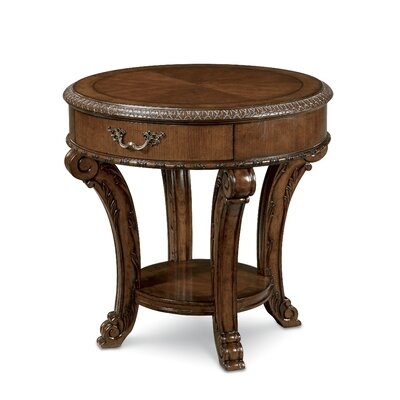 Old World End Table by A.R.T.